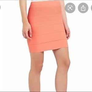 "BCBG ""Simone"" power skirt in tangelo orange"